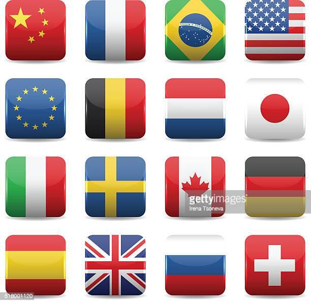 Icônes de drapeaux