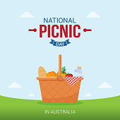National Picnic Day Vector Illustration