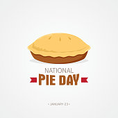 National Pie Day Vector Illustration
