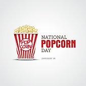 National Popcorn Day vector illustration