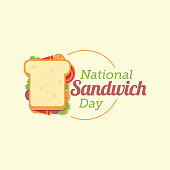 National Sandwich Day Vector Illustration