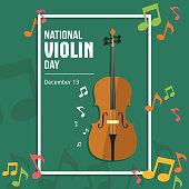 Vector Illustration National Violin Day