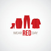 National wear red day vector illustration