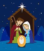 Scene of the birth of Jesus