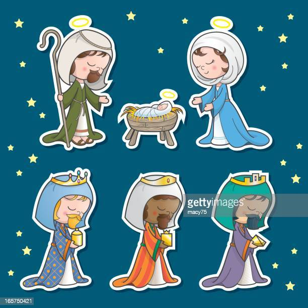 Nativity scene set