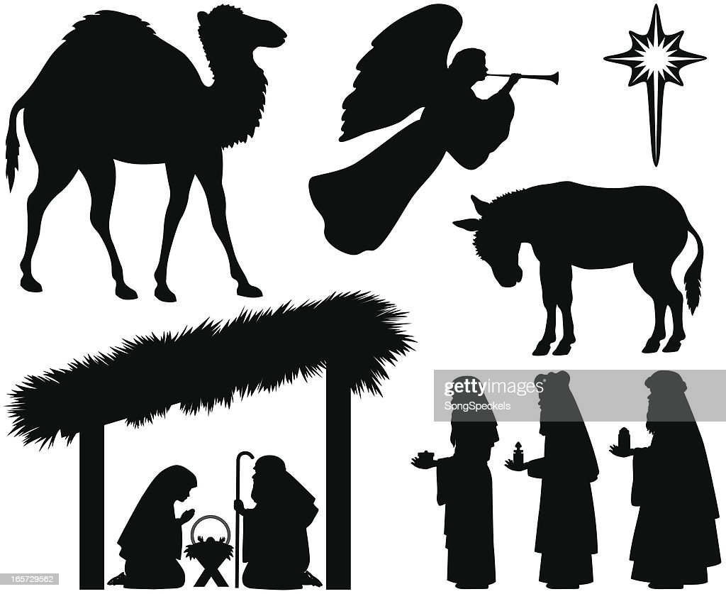 Nativity Silhouette Set Vector Art | Getty Images