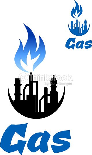 Natural Gas Extraction Factory Icon Vector Art Thinkstock