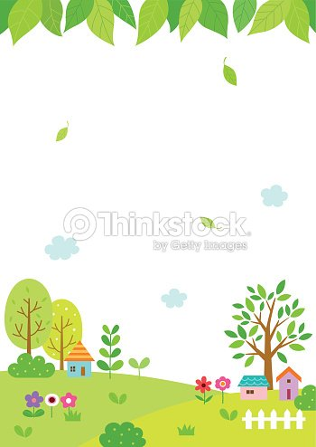 Natural landscape with green leaves background