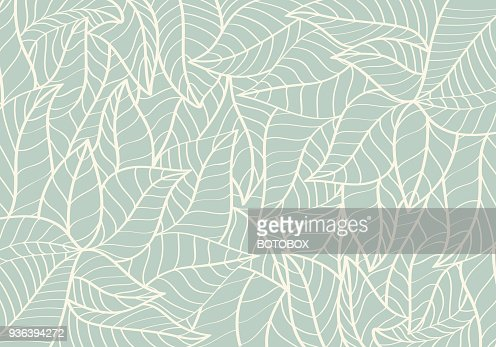 Natural Pattern,Abstract,Curve shape,Leaf Green colour Background : Vector Art