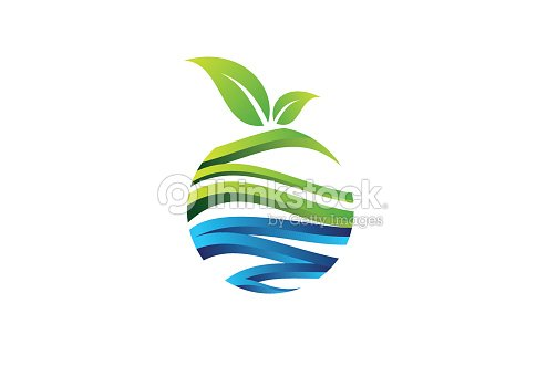 Nature Circle Plant Concept Logo Fruit Symbol Icon Vector Design