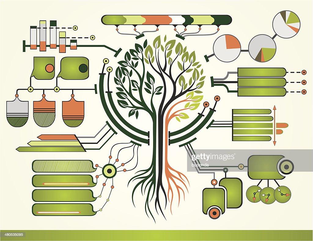 Natura infografica : Arte vettoriale