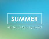 Nature summer blue blur background. Vector illustration.