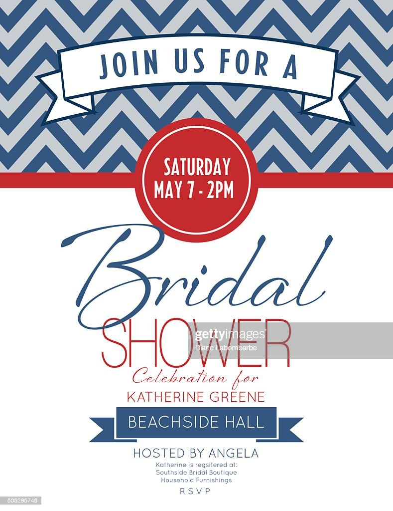 Nautical Theme Bridal Shower Invitation Vector Art Getty Images