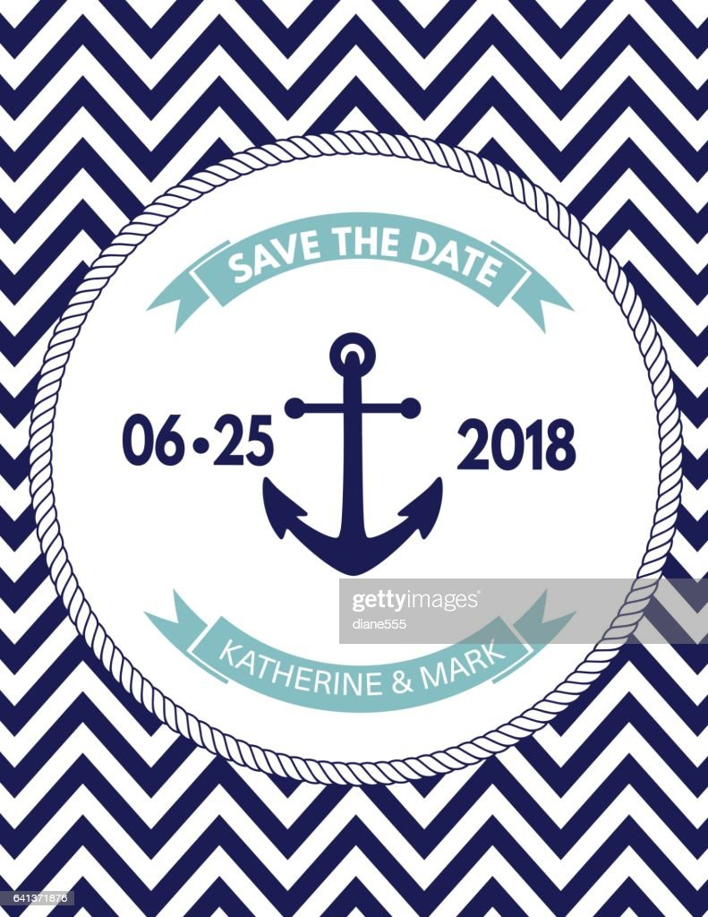 Nautical Theme Party Invitation Template Vector Art | Getty Images