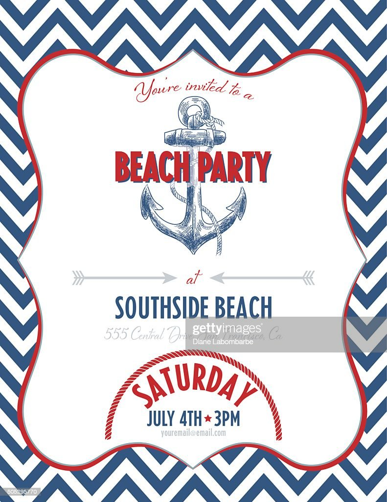 Design Nautical Theme nautical theme party invitation vector art getty images art