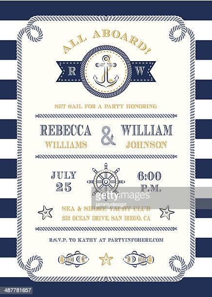 Temático de náutica de invitación