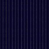 Classic clean white pinstripes on navy blue background seamless pattern
