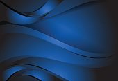 Navy Blue abstract line curve and wavy background