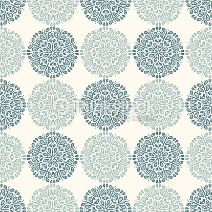 Navy Blue Lace Flower Pattern On White Background Vector Art