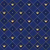 Print for cute luxury textile. Backdrop for wedding invitation. Prince and king vip style.