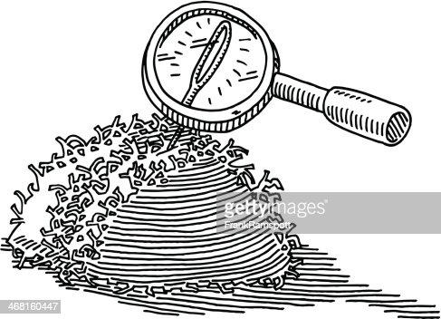 Une aiguille dans une botte de foin loupe dessin clipart vectoriel getty images - Une botte de foin ...