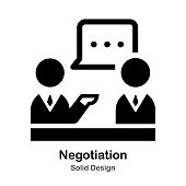 Negotiation between to people Solid Icon