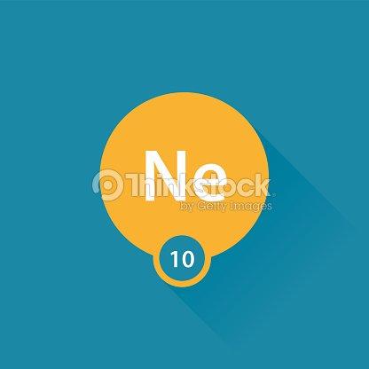 Neon Noble Gas Flat Icon Vector Art Thinkstock