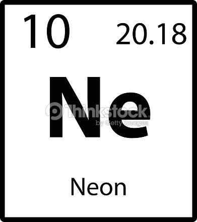 Neon periodic table element icon on white background vector vector neon periodic table element icon on white background vector vector art urtaz Gallery