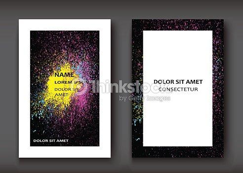 Fluide De Texture Decorative Peinture Couleurs Arriere Plans Sombres Illustration Vectorielle Modele Dernier Cri Pour Flyer Carte Visite Affiches