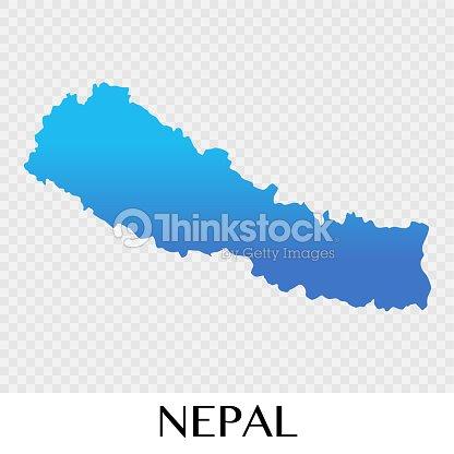 Nepal Map In Asia Continent Illustration Design Vector Art | Thinkstock
