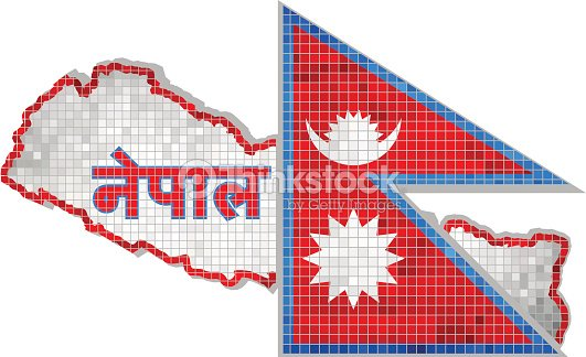 Nepal Map With Flag Inside Vector Art | Thinkstock