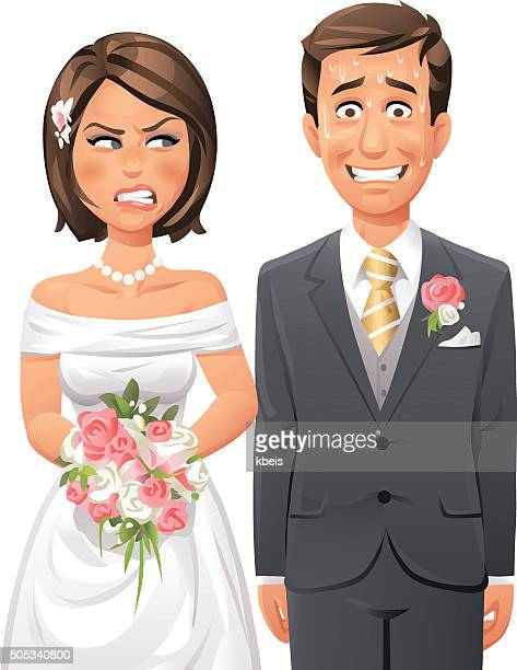 Nervous Groom And Angry Bride