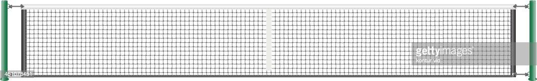 Net For The Game Of Tennis Vector Illustration Vector Art ... Tennis Net Vector