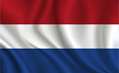 Netherlands flag background