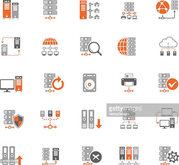 Network and Hosting Icon Set