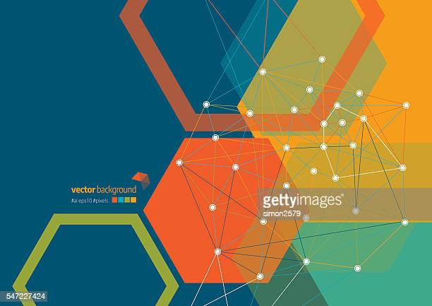 Network Connection Abstract Background