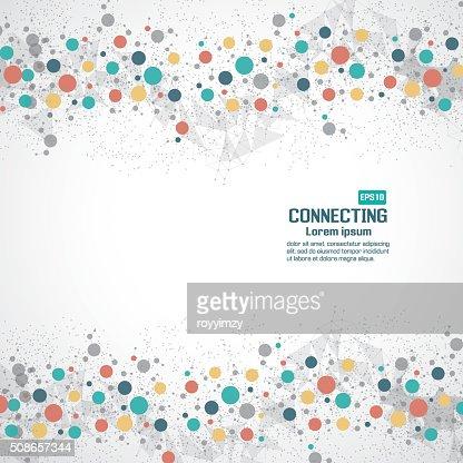 Network technology communication background : Vector Art