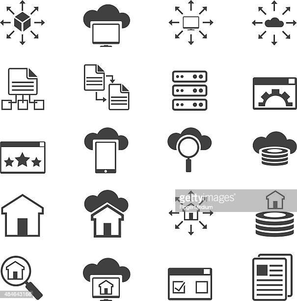 Networking icon set