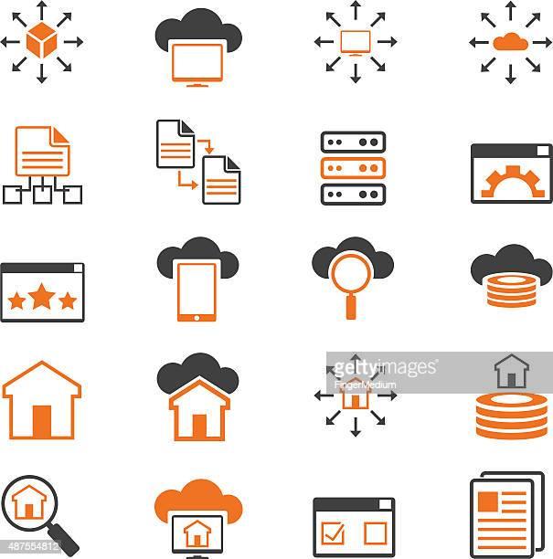 Netzwerk-Symbol set