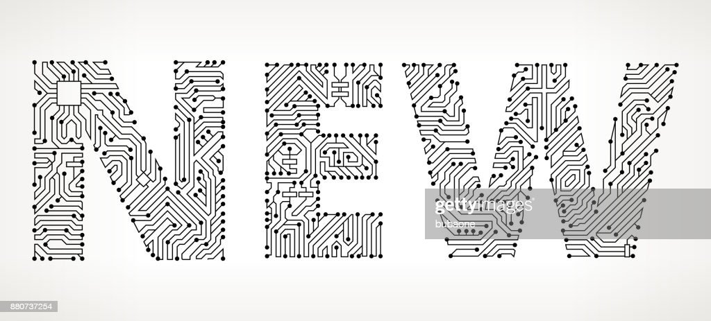 New Circuit Board Vector Buttons Vector Art | Getty Images