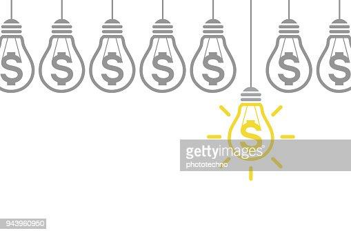 Neues Konzept der Finance-Idee : Vektorgrafik