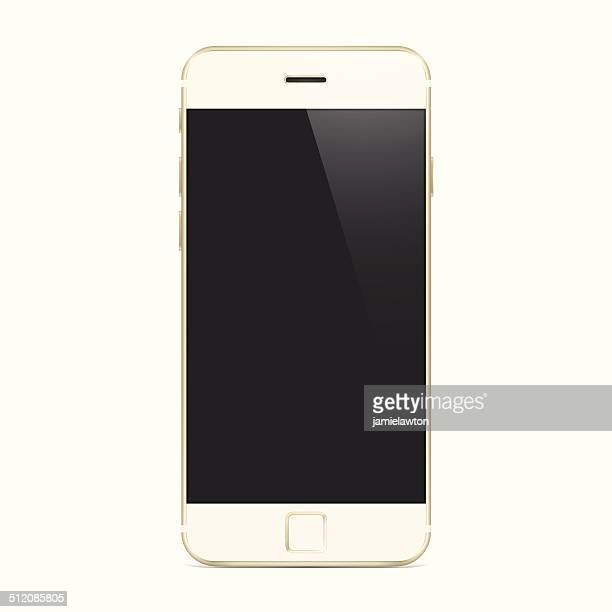 New Gold Smartphone, Mobile Phone, Cell