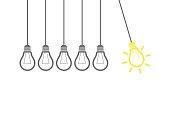 New Idea Concept Newtons Cradle