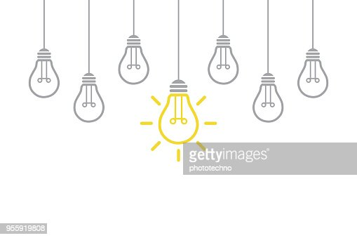 New Idea Concept with Light Bulb : Vector Art