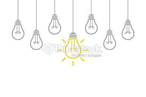 New Idea Concept with Light Bulb : stock vector