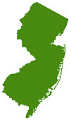 vector illustration of New Jersey map