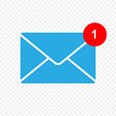 New message vector icon. Inbox sign