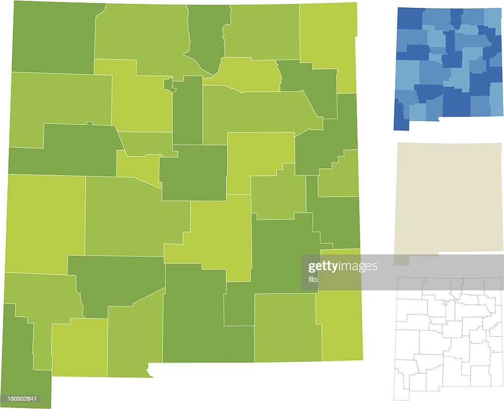 New Mexico County Map Vector Art Getty Images - New mexico counties map