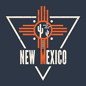 New Mexico t-shirt design, print, typography, label. Vector illustration.