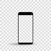 new smartphone template on transparent background